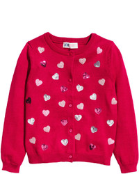H&M Cotton Cardigan Dark Bluedotted Kids