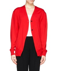 Alexander Wang Double Layer Wool Cardigan