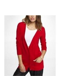 Express Drop Shoulder Boyfriend Cardigan Red Large