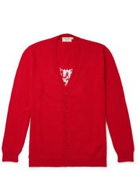 Maison kitsun intarsia cotton cardigan medium 6873841