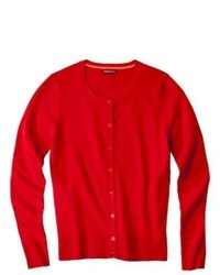Merry Link Co., Ltd. Merona Ultimate Crewneck Cardigan Sweater Anthem Red Xl