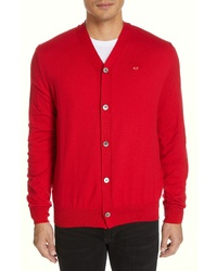 Comme des Garcons Play V Neck Cotton Cardigan