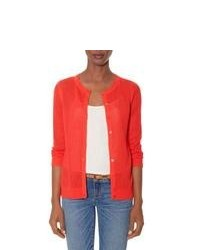 The Limited Open Stitch Layering Cardigan Red M