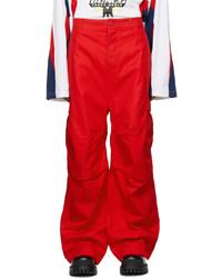 Balenciaga Red Soft Cargo Pants