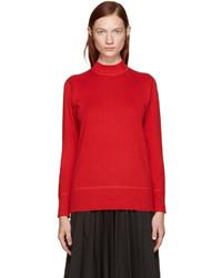 Hyke Red Mock Neck Sweater