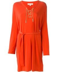 MICHAEL Michael Kors Michl Michl Kors Drawstring Slip Neckline Dress