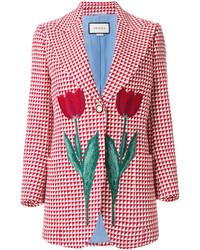 Gucci Tulip Triangle Check Blazer