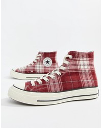 Converse Chuck Taylor 70 Hi Trainers In Burgundy 162403c