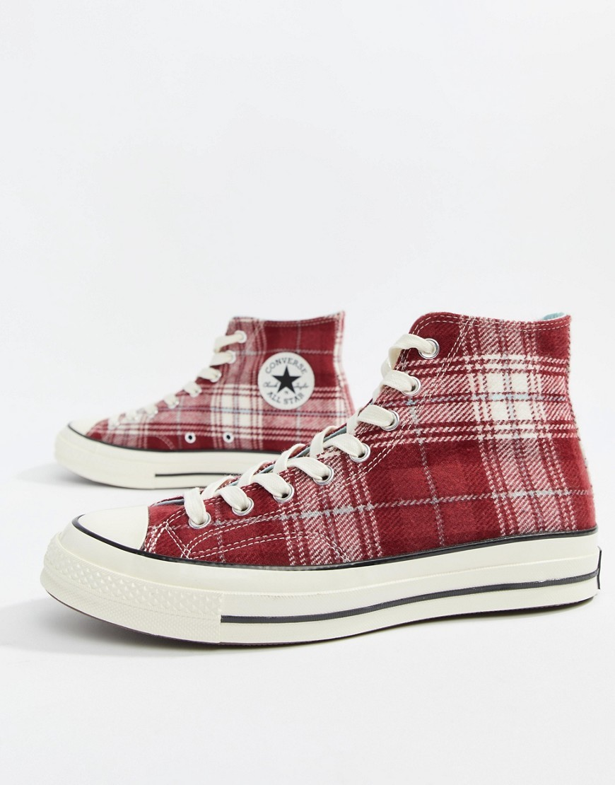 9718355e3ae3e7 ... Canvas High Top Sneakers Converse Chuck Taylor 70 Hi Trainers In  Burgundy 162403c