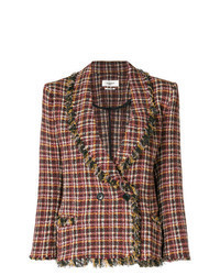 Red Check Double Breasted Blazer