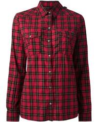 Red Check Dress Shirt