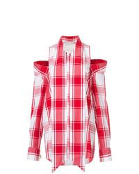 Checked cold shoulder shirt medium 7785118