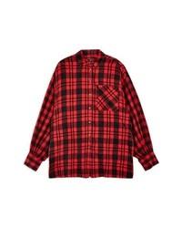 Topshop Oversize Check Shirt