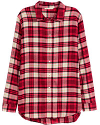 Red Check Flannel Dress Shirt