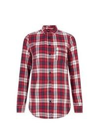 Cameo rose new look red brushed check shirt medium 396587