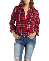 Charlotte Russe Drop Shoulder Boyfriend Shirt