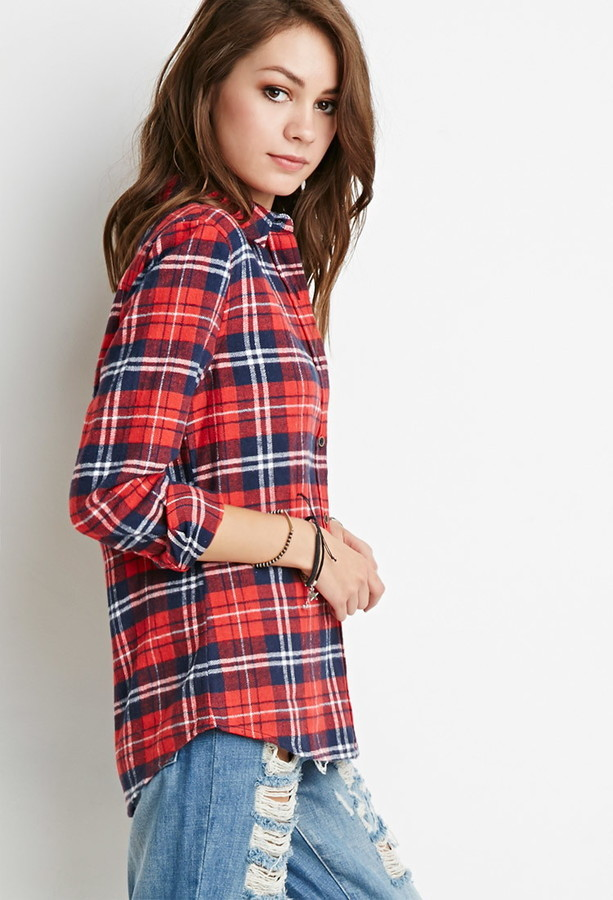 d2fe268f Forever 21 Classic Plaid Flannel Shirt, $19 | Forever 21 | Lookastic.com