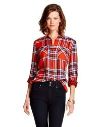 Merona Favorite Shirt Red Flannel Plaid  Tm