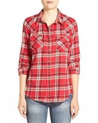 Sandra Plaid Cotton Western Shirt