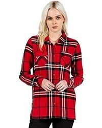 Volcom Juniors Love Me Not Long Sleeve Flannel Plaid Shirt