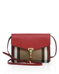 Burberry Macken Small House Check Leather Crossbody Bag
