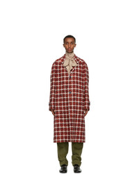 Gucci Red Wool Tweed Coat