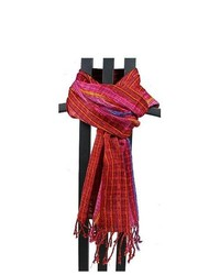 Global Crafts San Antonio Passion Red Scarf