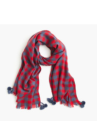 Yarn dyed wool scarf in buffalo check medium 822115