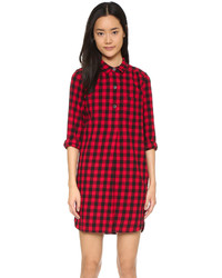 Red Check Shirtdress