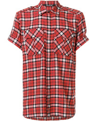 Neil Barrett Checked Short Sleeve Shirt