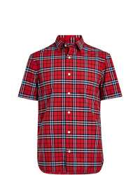 Burberry Short Sleeve Check Cotton Shirt