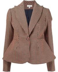 Red Check Wool Blazer