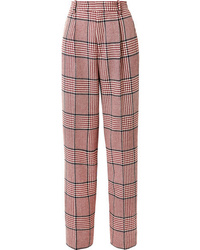 Gucci Prince Of Wales Checked Wool Blend Wide Leg Pants