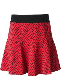 Red Chevron Skater Skirt