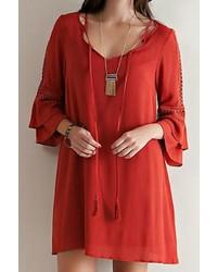 Entro bohemian bell sleeve dress medium 322329