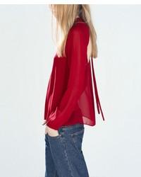 ChicNova Backless Long Sleeves Blouse