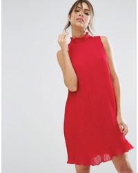 Red Chiffon Swing Dress