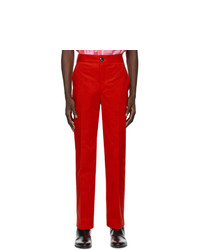 SSENSE WORKS Jeremy O Harris Red Twill Chino Trousers