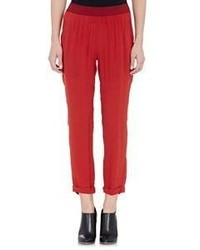 Ann Demeulemeester Victor Crop Trousers Red Size 36 Fr