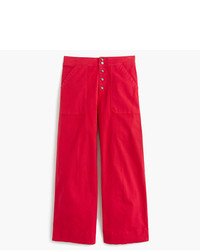 Wide leg cropped chino pant medium 1140560