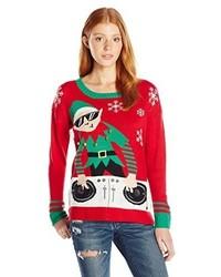 Blizzard Bay Juniors Dj Elf Christmas Pullover Sweater