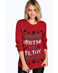 Erin ya filthy muggle christmas jumper medium 6456851
