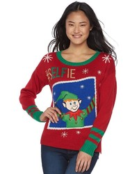 It's Our Time Juniors Musical Christmas Sweater