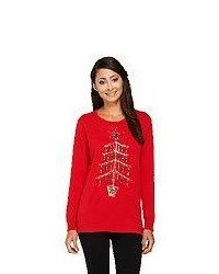 Quacker factory yuletiddings pullover sweater medium 377563