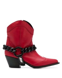 MSGM Chain Embellished Texan Boots