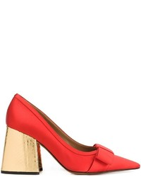 Marni Metallic Chunky Heel Pumps