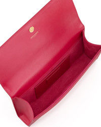 26088a6aee46 Saint Laurent Cassandre Clutch Bag Pink, $1,290 | Neiman Marcus ...
