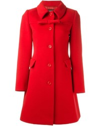 Moschino Boutique Front Bow Fitted Coat