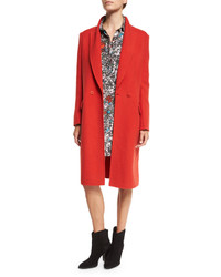 Cédric Charlier Cedric Charlier Mid Length Wool Coat Red