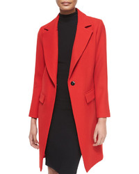 Milly Claudia Wool Snap Front Coat